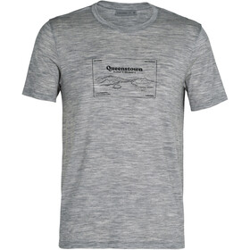 Icebreaker Tech Lite SS Crew Shirt Queenstown Men, metro heather